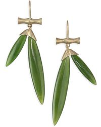 Annette Ferdinandsen - Tropical Jade Bamboo Drop Earrings - Lyst