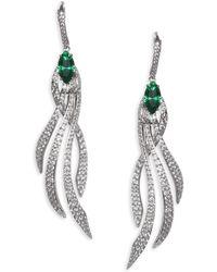 Adriana Orsini - Lush Crystal Leverback Earrings - Lyst