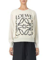 Loewe - Cashmere Logo Sweater - Lyst