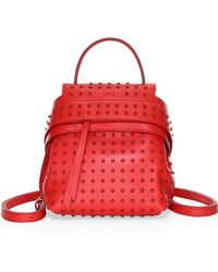 Tod's - Mini Gommino Wave Leather Backpack - Lyst