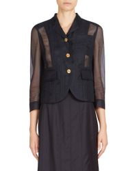 Thom Browne - Tulle Lace-up Blazer - Lyst