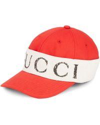 1e41373aacd Lyst - Gucci Wrap Baseball Cap in Black for Men