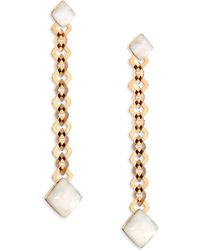 Vhernier - Pan Di Zucchero Sunflower Quartz, Mother-of-pearl & 18k Rose Gold Drop Earrings - Lyst