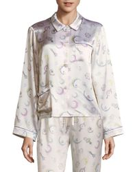 Morgan Lane - Ruthie Silk Pajama Top - Lyst