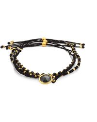 Astley Clarke - Biography Rock 'n' Roll Hematite & Black Spinel Silken Beaded Bracelet - Lyst