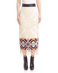 Teatum Jones - Florence Embroidered Skirt - Lyst
