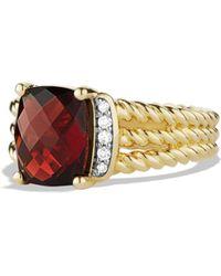 David Yurman - Petite Wheaton Ring With Diamonds In Gold - Lyst