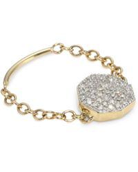 Phillips House - Diamond 14k Yellow Gold Chain Ring - Lyst
