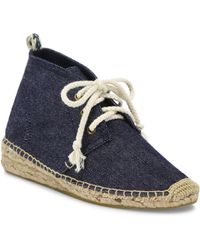 Soludos - Demi-wedge Canvas Espadrille Booties - Lyst