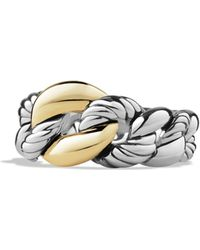 David Yurman - Belmont Curb Link Ring With Gold - Lyst