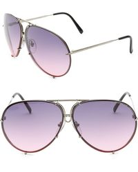 c0be8277bf Lyst - Porsche Design P 8478 69mm Aviator Sunglasses in Metallic for Men