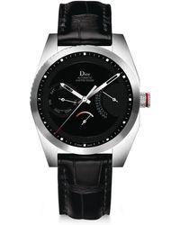 Dior - Chiffre Rouge Alligator Strap Timepiece - Lyst