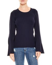 Sandro - Ruddy Silk Sleeve Sweater - Lyst