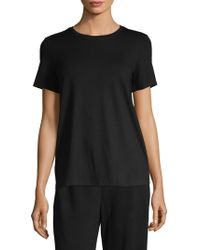 Eileen Fisher - Short-sleeve Cotton Tee - Lyst