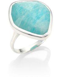 Monica Vinader - Siren Amazonite & Sterling Silver Ring - Lyst