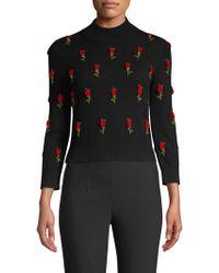 Michael Kors - Rose-embroidered Jumper - Lyst