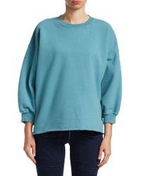 Rachel Comey - Fond Distressed Crewneck Sweatshirt - Lyst