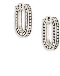 John Hardy - Dot Small Sterling Silk Link Hoop Earrings/0.75 - Lyst