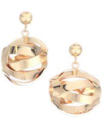 Paula Mendoza - Women's Unilla Globe Drop Earrings - Yellow Gold - Lyst