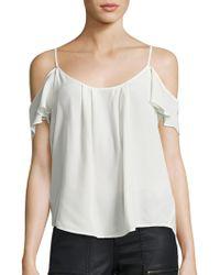 Joie - Adorlee Silk Off-the-shoulder Top - Lyst