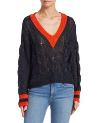 Rag & Bone - Emma Cropped Color Block Sweater - Lyst