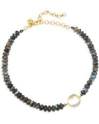 Shana Gulati Diamond Bead Tonsa Collar Necklace - Metallic