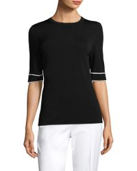 ESCADA | Knit Elbow Sleeve Tee | Lyst