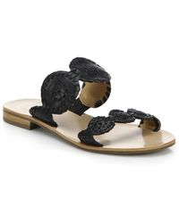 Jack Rogers - Lauren Bicolor Leather Sandals - Lyst