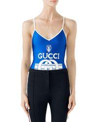 Gucci - Print Sparkling Bodysuit - Lyst