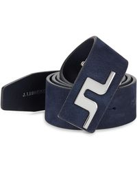 J.Lindeberg - Golf Carter Brushed Leather Belt - Lyst