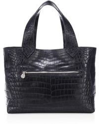 Ethan K - Helen Crocodile Leather Tote - Lyst