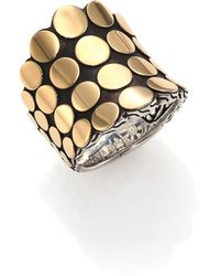 John Hardy | Dot 18k Yellow Gold & Sterling Silver Saddle Ring | Lyst