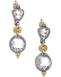 Konstantino - Pythia Crystal, Sterling Silver & 18k Yellow Gold Drop Earrings - Lyst