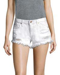 Joe's - Distressed Cutoff Shorts - Lyst