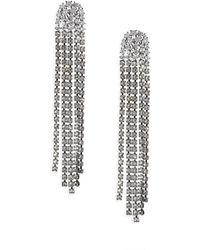 Adriana Orsini | Crystal Tassel Earrings | Lyst