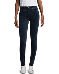 AG Jeans - Farrah Velvet High-rise Pants - Lyst