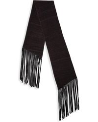 John Varvatos - Double Layer Wool Scarf - Lyst