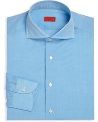 Isaia - Regular-fit Heathered Dress Shirt - Lyst
