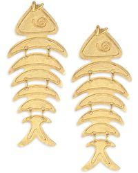 Oscar de la Renta - Bold Fish Drop Earrings - Lyst