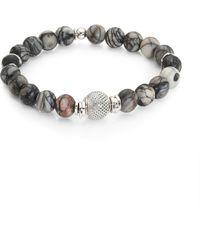 Tateossian - Silver Beaded Bracelet - Lyst
