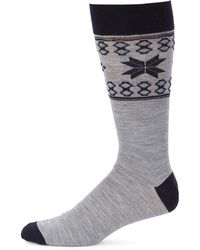 Saks Fifth Avenue - Collection Fairisle Dress Socks - Lyst
