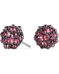 David Yurman - Cable Berries Faceted Gemstone & Stainless Sterling Earrings - Lyst