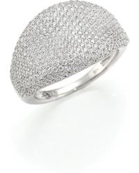 39964e38319 Lyst - Adriana Orsini Sterling Silver Solitaire Ring in Metallic