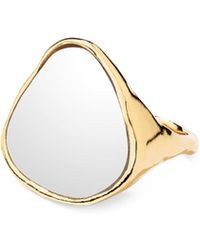 Aurelie Bidermann - Ciottolo Ring With Mirror - Lyst