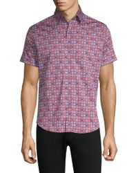 Robert Graham - Tailored Fit Boman Short Sleeve Shirt - Lyst