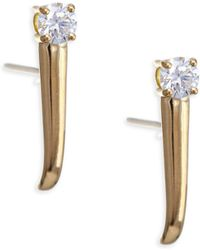 Melissa Kaye - Aria 18k Gold 0.33 Tcw Diamond Dagger Earrings - Lyst