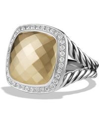 David Yurman - Albion Ring With Diamonds In Sterling Silver - Lyst