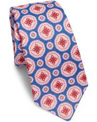 Kiton - Large Medallion Linen Tie - Lyst