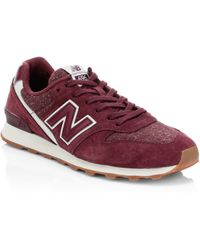 New Balance - Commercial 696 Suede Knit Trainers - Lyst