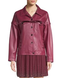Ramy Brook - Parker Fringe Leather Jacket - Lyst